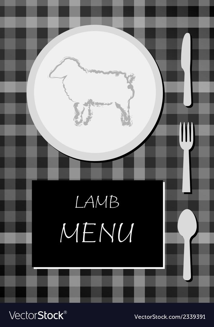 Lamb menu vector | Price: 1 Credit (USD $1)
