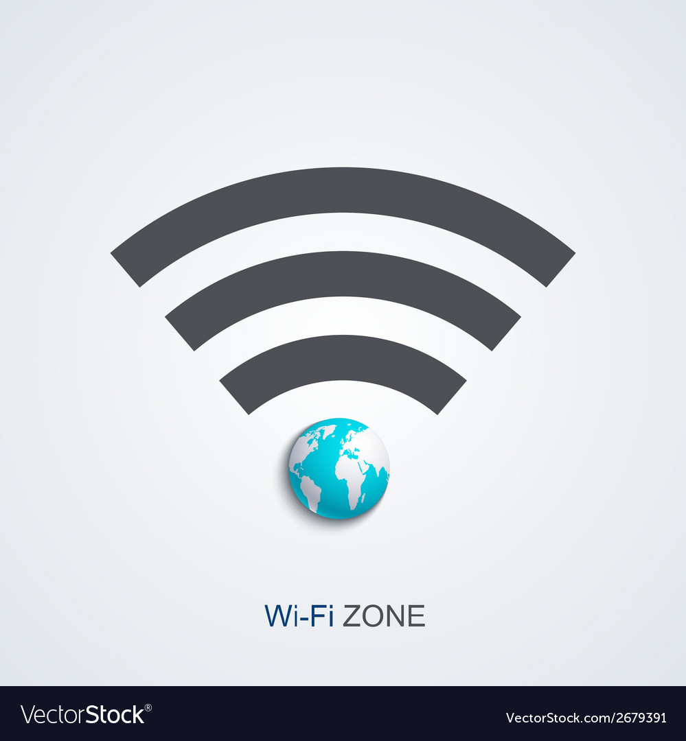 Modern wifi zone icon vector | Price: 1 Credit (USD $1)