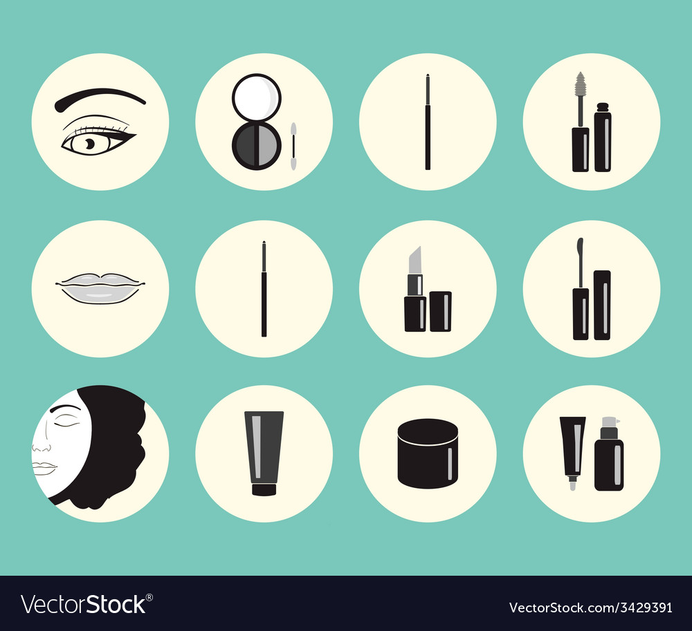 On makeup theme vector | Price: 1 Credit (USD $1)