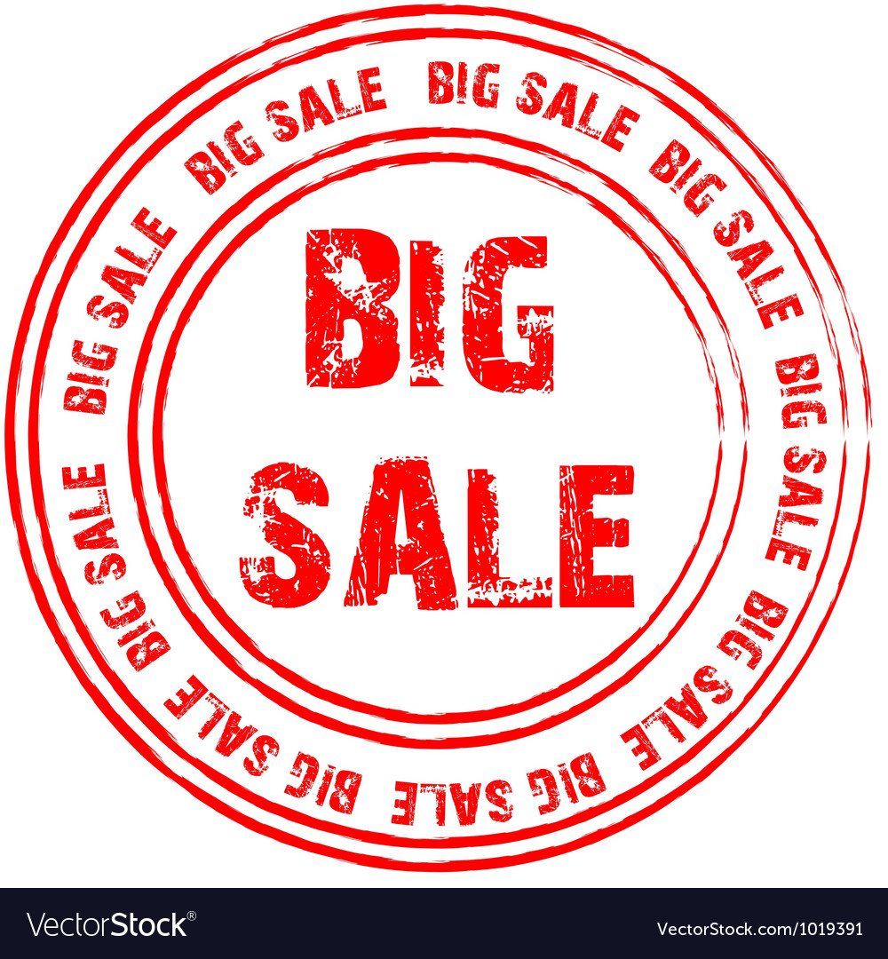 Red stamp for big sale vector | Price: 1 Credit (USD $1)