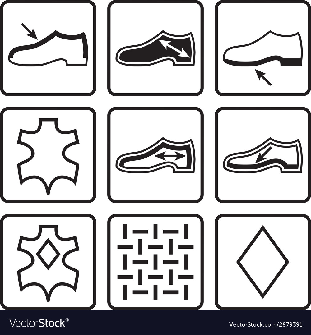 Shoes properties symbols vector | Price: 1 Credit (USD $1)