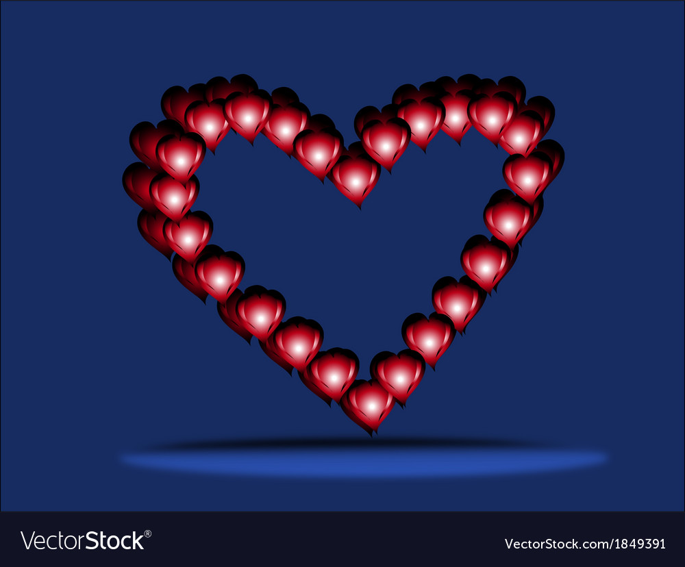 Three hearts by st valentines day1 vector | Price: 1 Credit (USD $1)