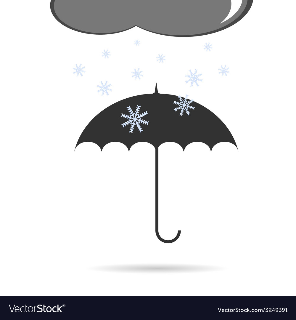 Umbrella with snow vector | Price: 1 Credit (USD $1)