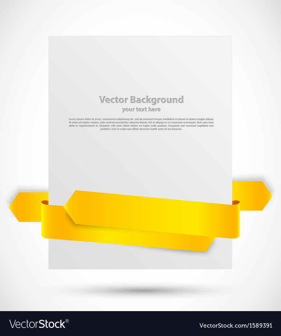 White banner with ribbon vector | Price: 1 Credit (USD $1)
