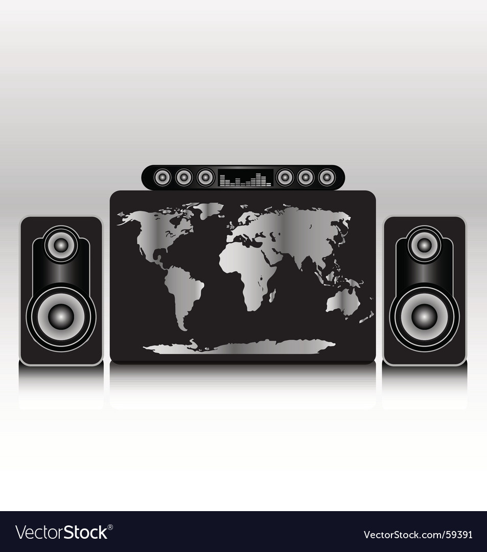 World wide stereo vector | Price: 1 Credit (USD $1)
