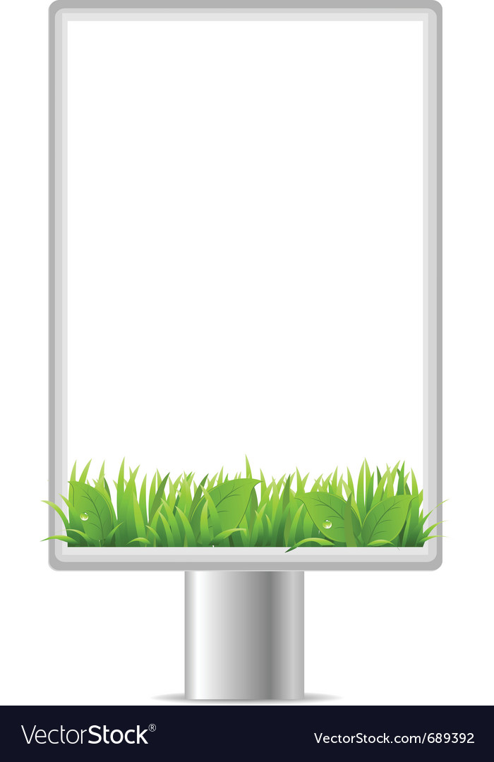 Blank vertical billboard vector | Price: 1 Credit (USD $1)