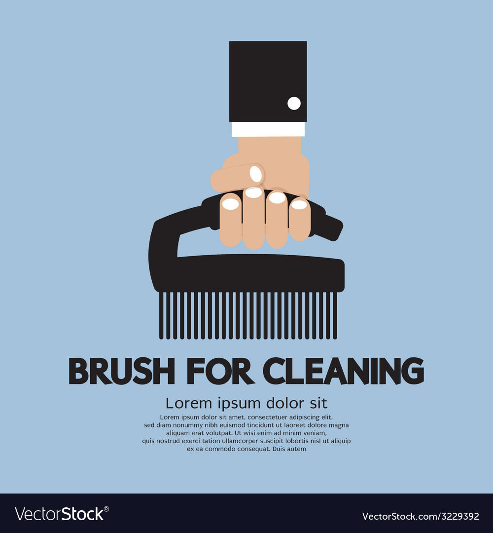 Brush for cleaning vector | Price: 1 Credit (USD $1)