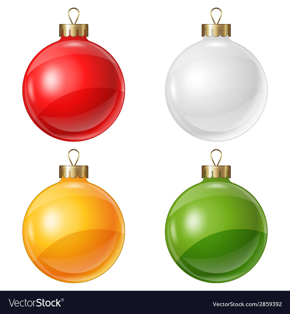 Christmas balls isolated on white for design vector | Price: 1 Credit (USD $1)