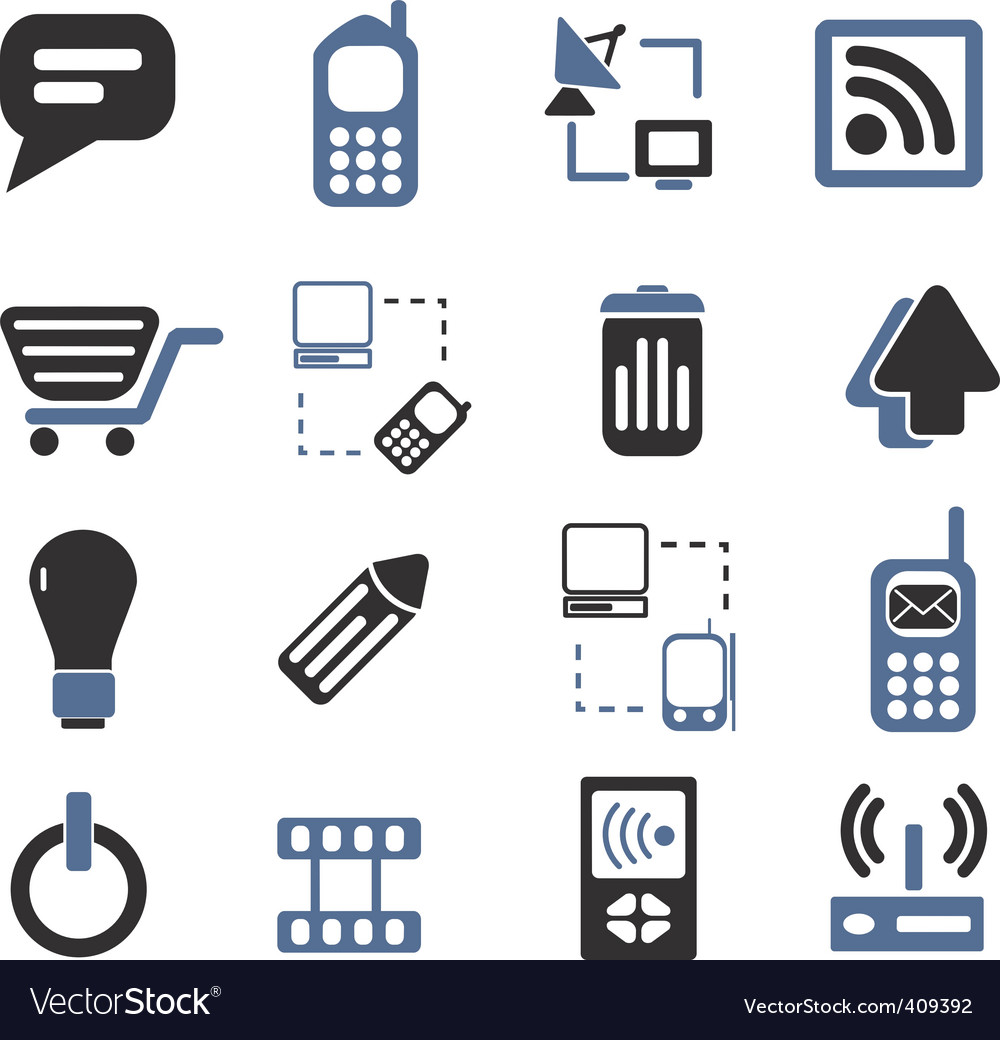 Communication signs set vector | Price: 1 Credit (USD $1)