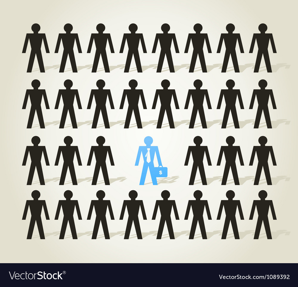 Crowd of people3 vector | Price: 1 Credit (USD $1)