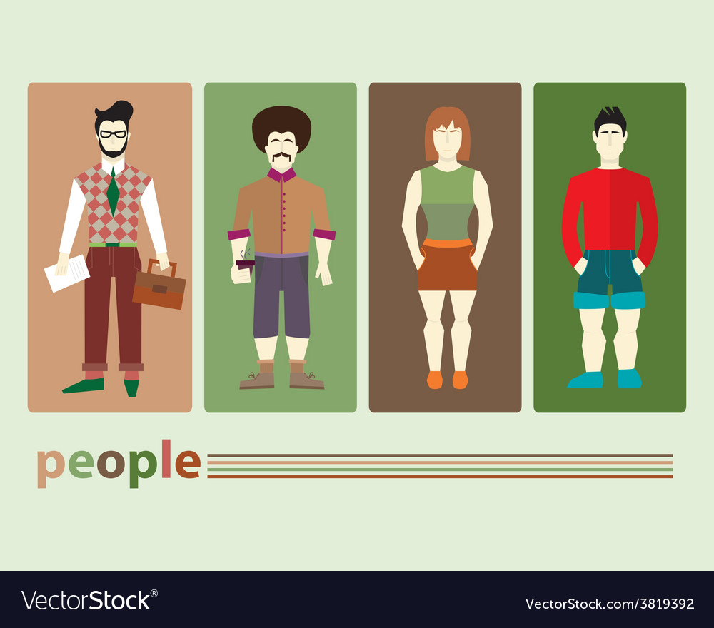 Different people vector   Price: 1 Credit (USD $1)
