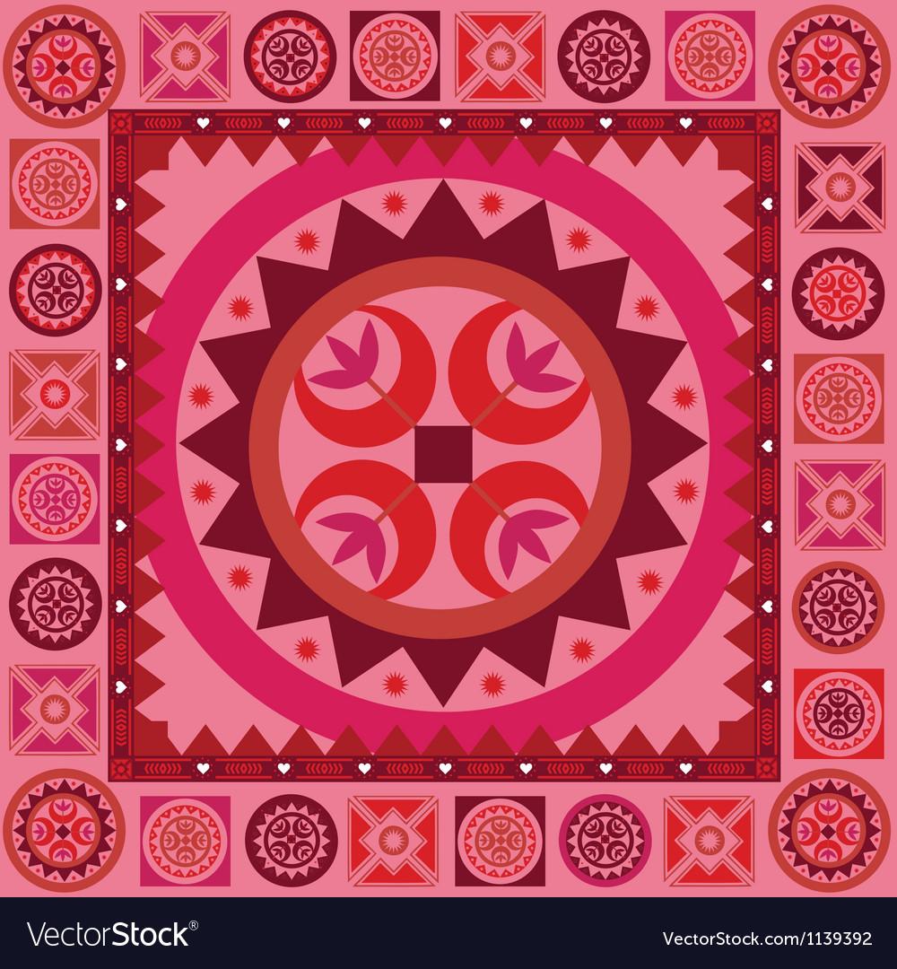 Ornamental new spring poster vector | Price: 1 Credit (USD $1)