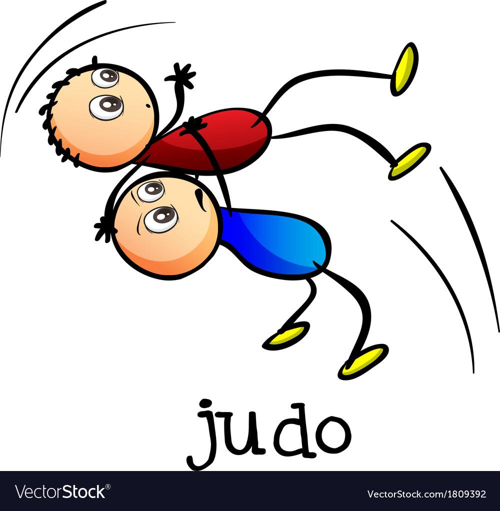 Stickmen doing judo vector | Price: 1 Credit (USD $1)