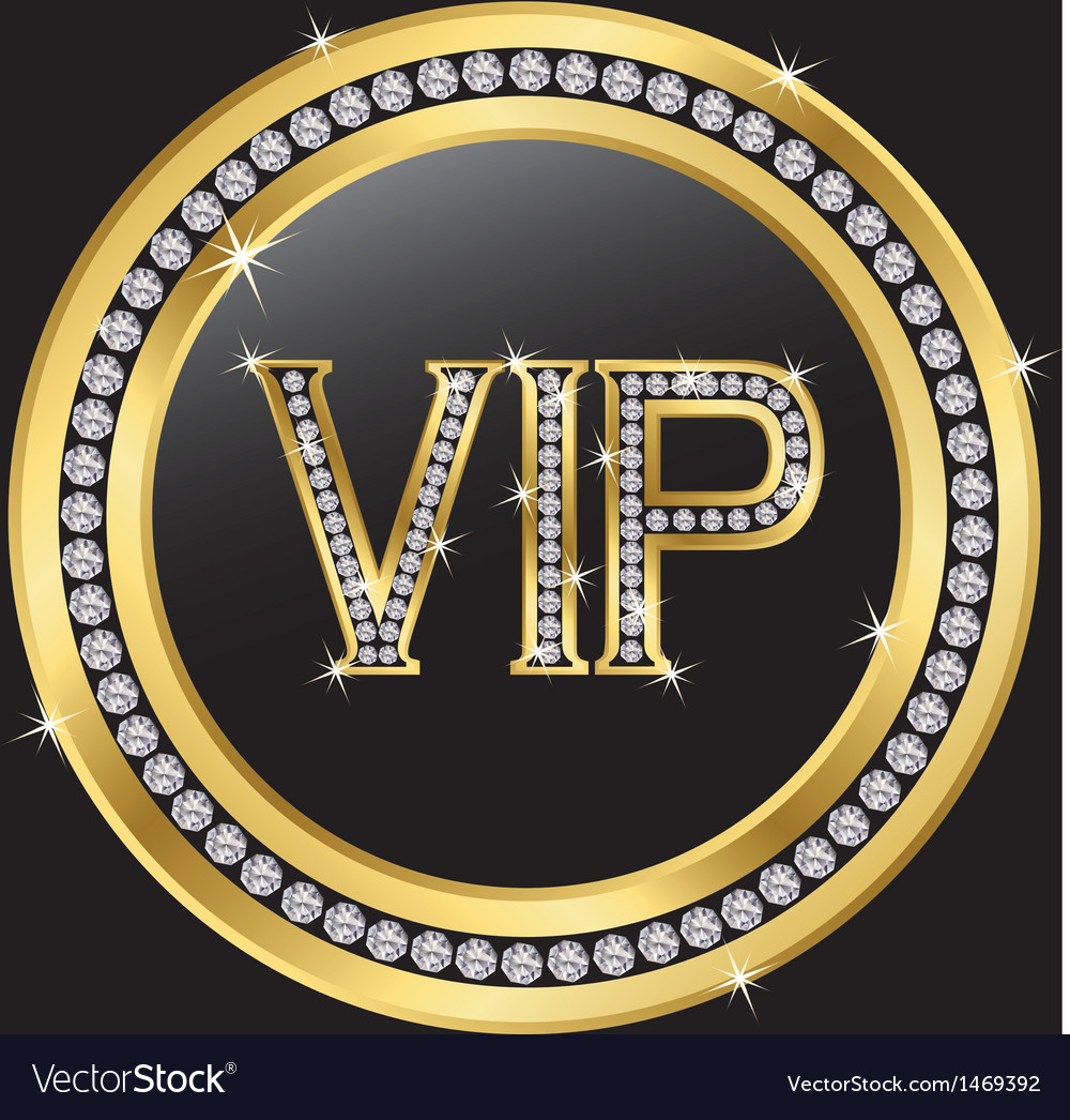 Vip with diamonds vector | Price: 1 Credit (USD $1)