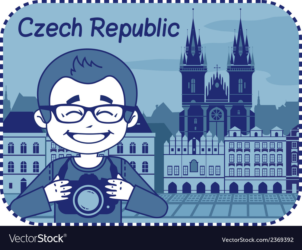 With catedral in czech republic vector | Price: 1 Credit (USD $1)