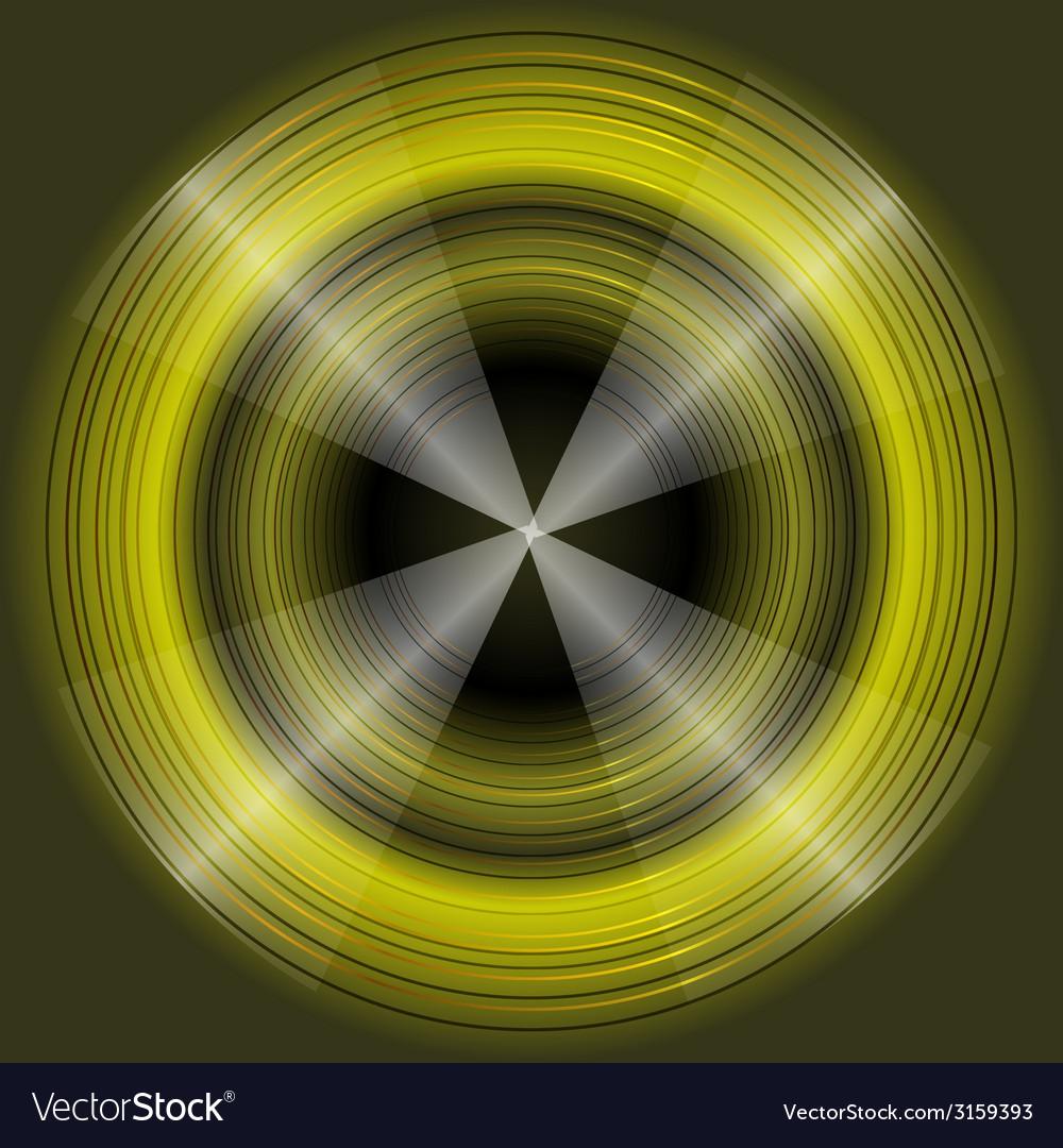 Abstract circular dark green background design vec vector | Price: 1 Credit (USD $1)