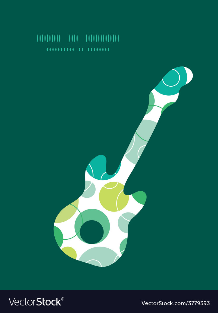 Abstract green circles guitar music vector | Price: 1 Credit (USD $1)