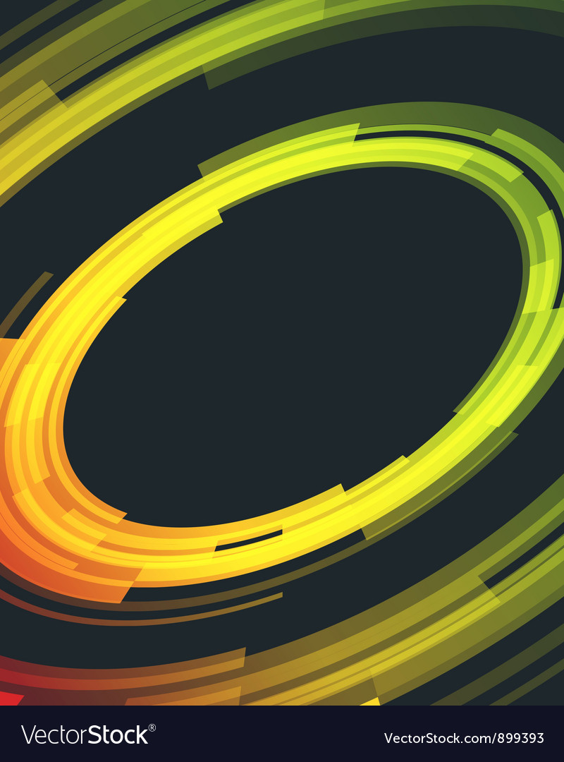 Abstract retro technology circles background vector | Price: 1 Credit (USD $1)
