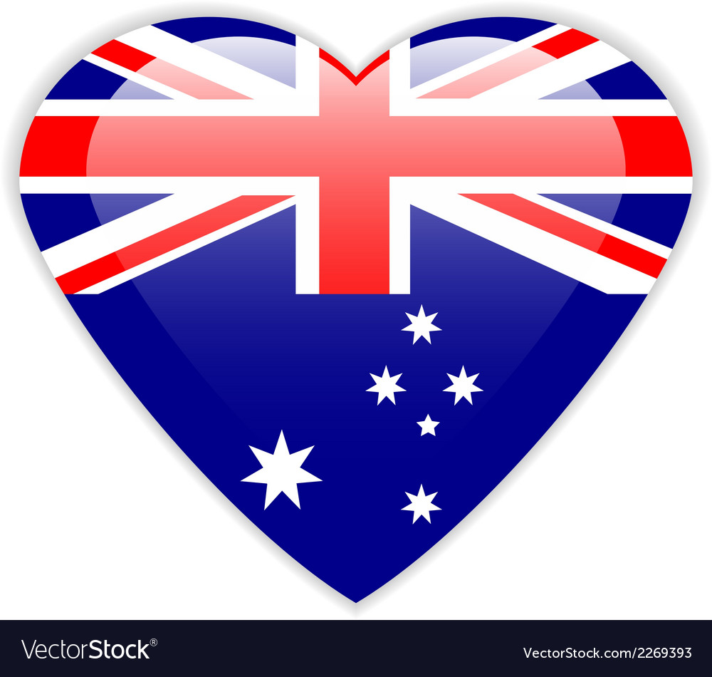 Australia flag button vector | Price: 1 Credit (USD $1)