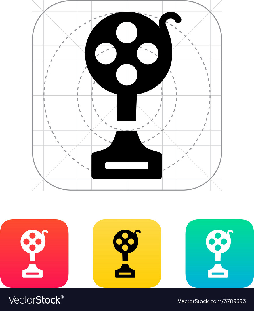 Best film icon on white background vector | Price: 1 Credit (USD $1)
