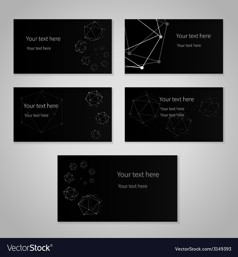 Black cards vector | Price: 1 Credit (USD $1)