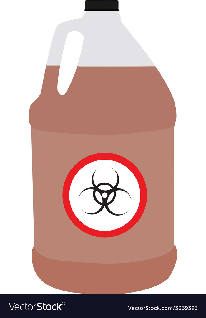 Bottle with biohazard and toxic symbol vector | Price: 1 Credit (USD $1)