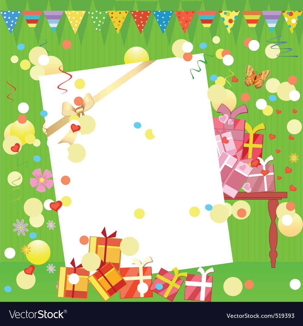 Fun birthday party vector | Price: 1 Credit (USD $1)