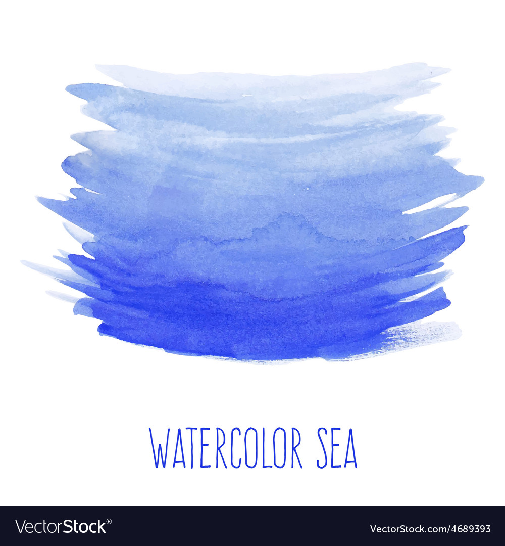 Hand painted watercolor sea vector | Price: 1 Credit (USD $1)
