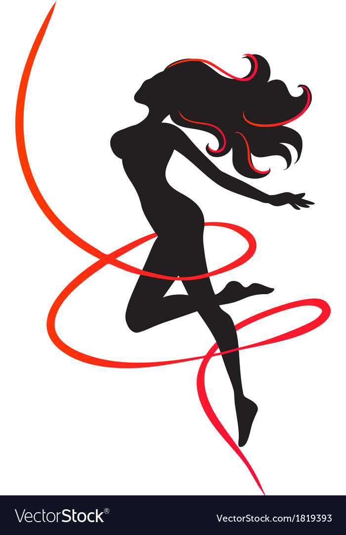 Slenderness silhouette of slim girl vector | Price: 1 Credit (USD $1)