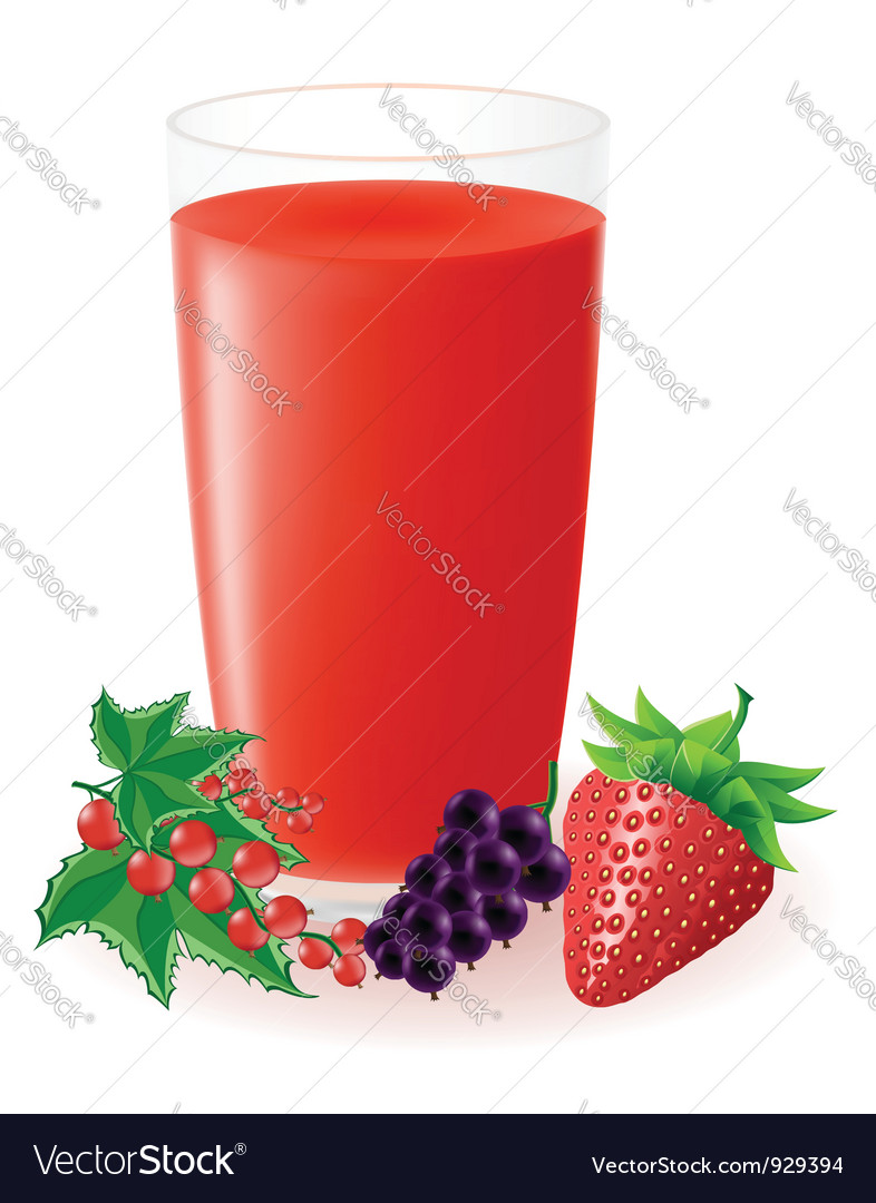 Berry juice vector | Price: 1 Credit (USD $1)
