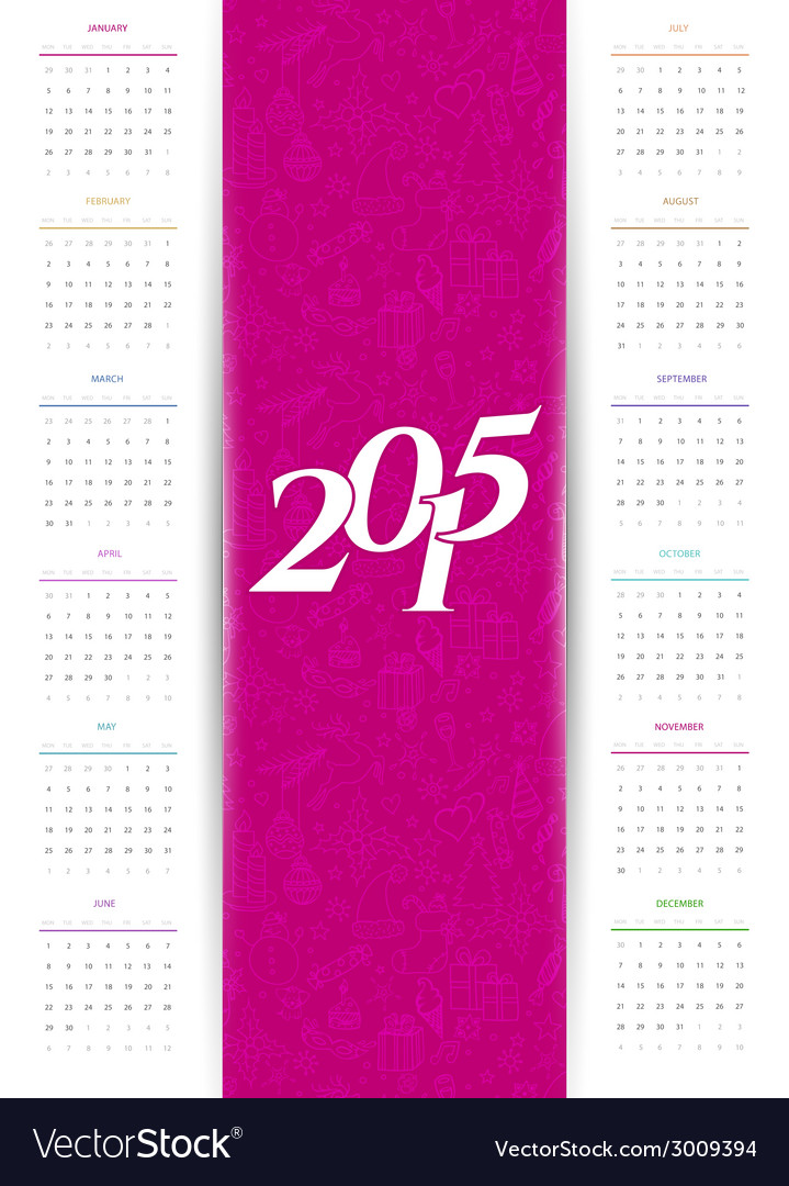 Calendar for 2015 vector | Price: 1 Credit (USD $1)