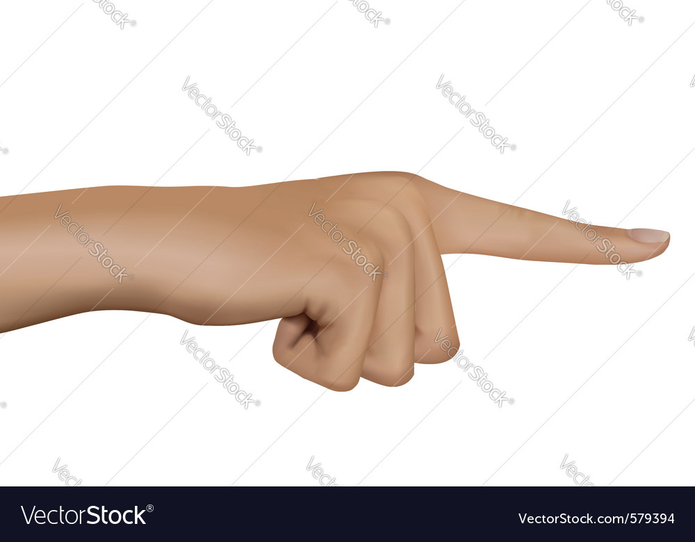 Hand with pointing finger vector | Price: 3 Credit (USD $3)