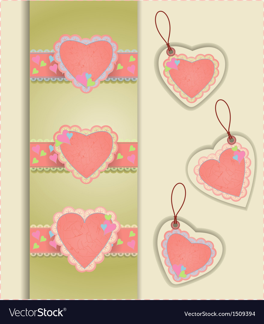Heart labels vector | Price: 1 Credit (USD $1)