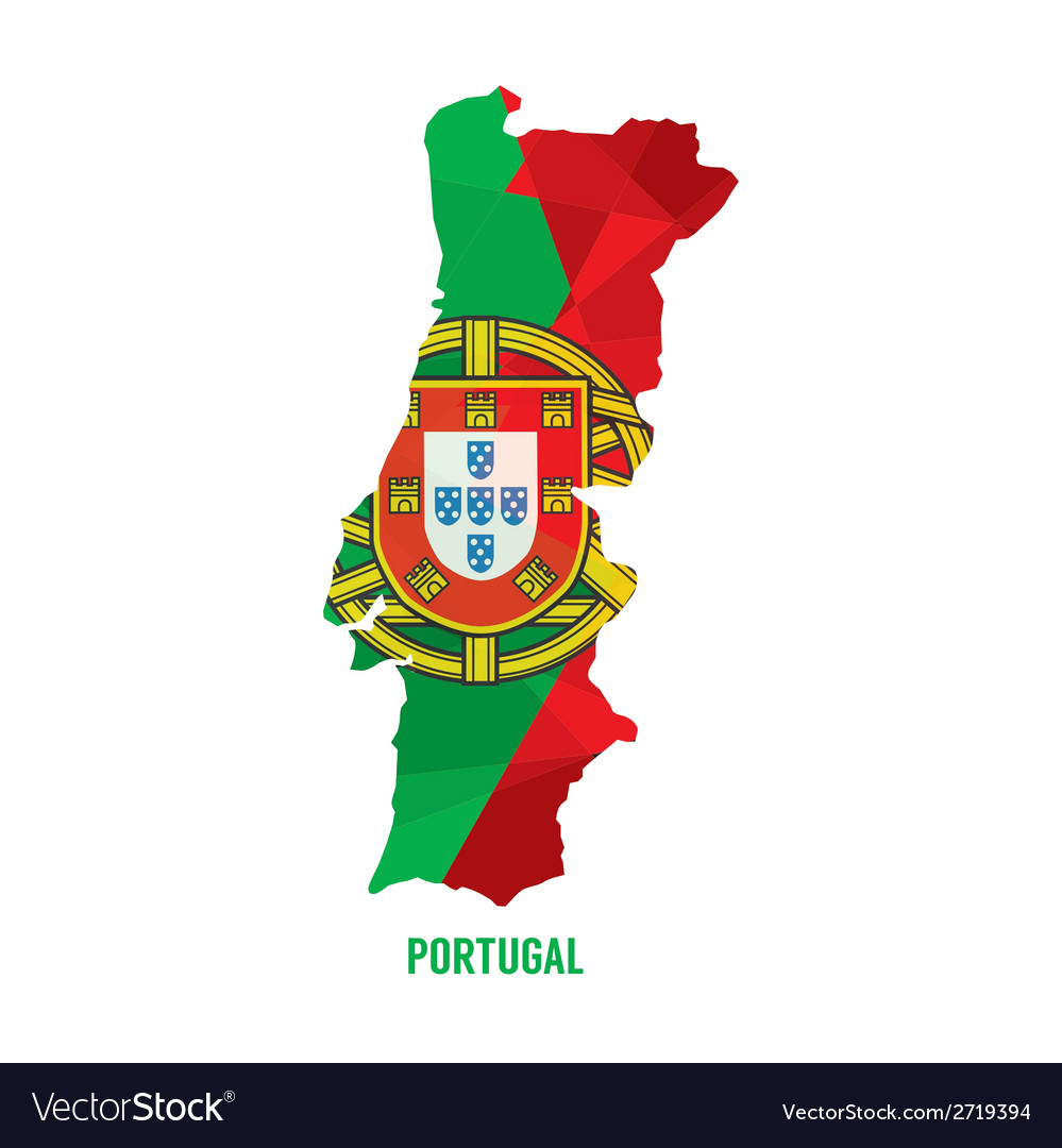 Map of portugal vector | Price: 1 Credit (USD $1)