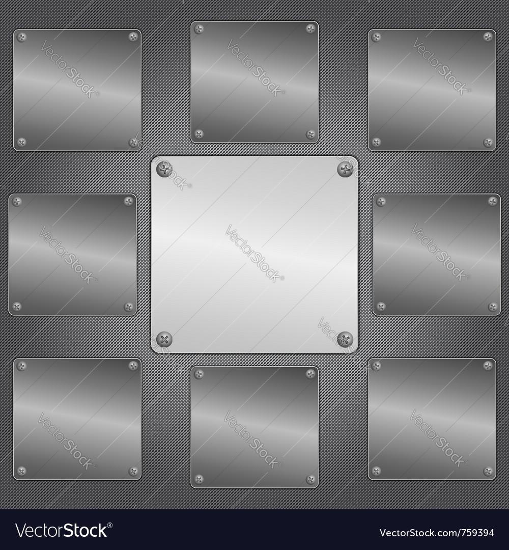 Metal plates vector   Price: 1 Credit (USD $1)