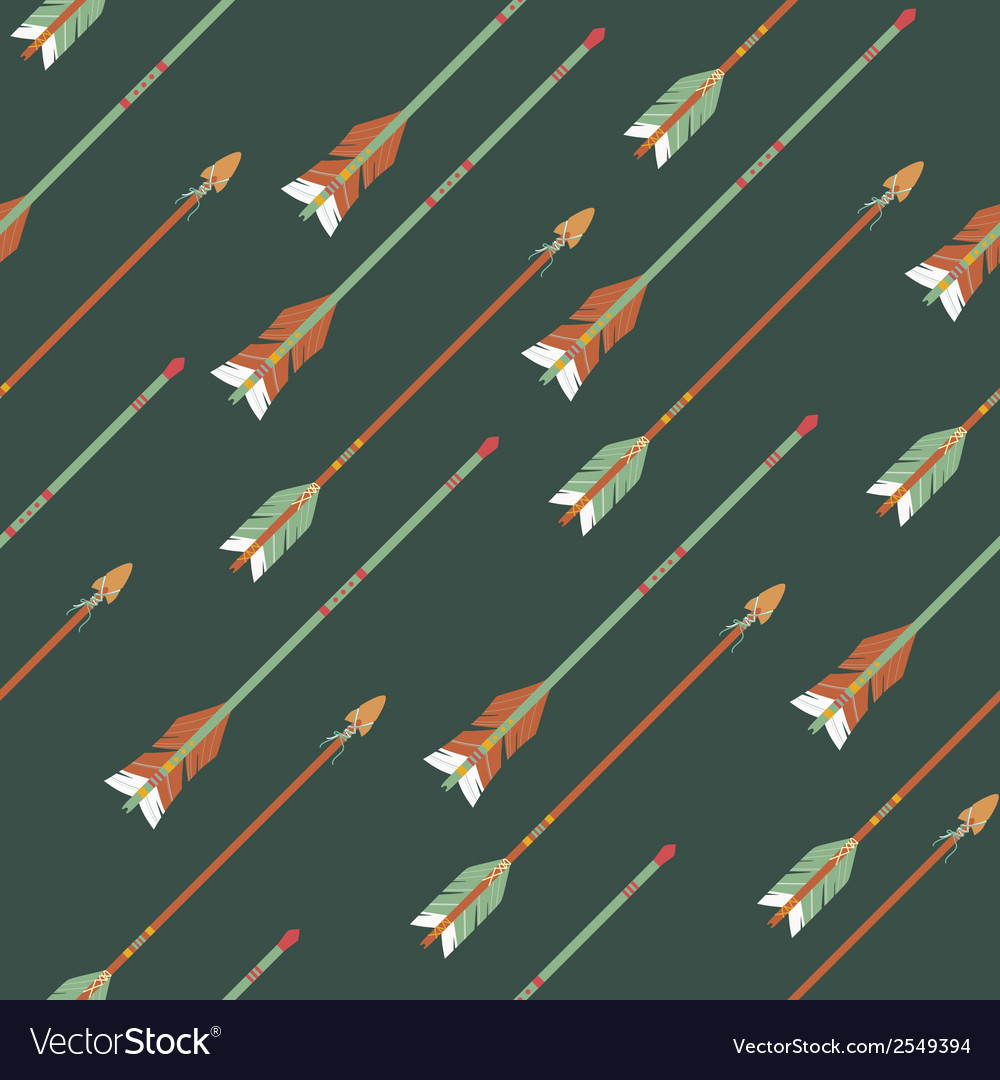 Seamless colorful ethnic pattern with arrows vector   Price: 1 Credit (USD $1)