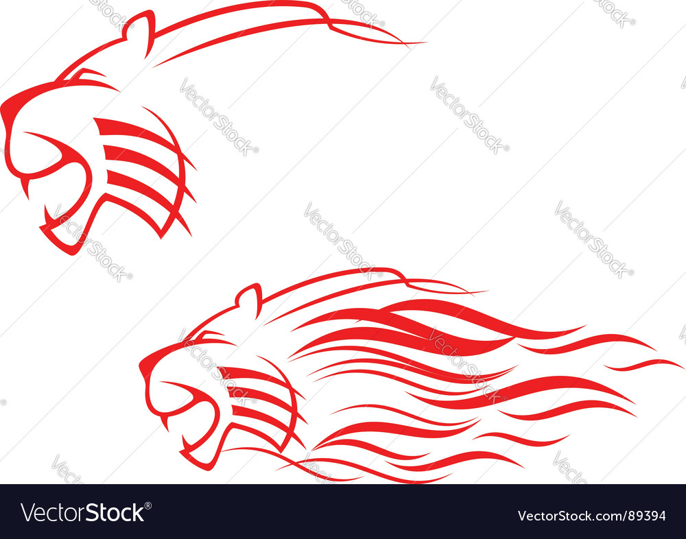 Tiger sign vector | Price: 1 Credit (USD $1)