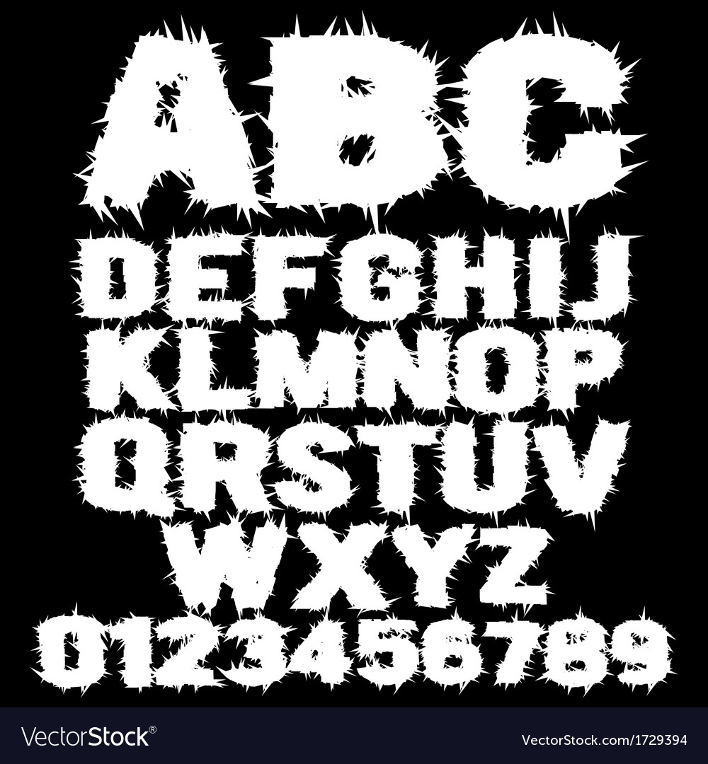 White studded scary alphabet vector | Price: 1 Credit (USD $1)