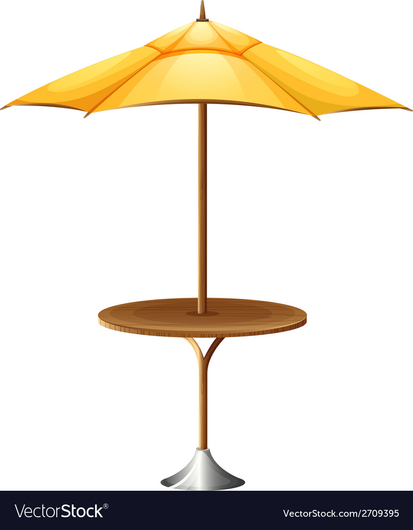 A table with an umbrella vector | Price: 1 Credit (USD $1)