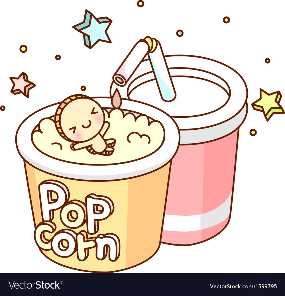 A view of pop corn vector | Price: 1 Credit (USD $1)