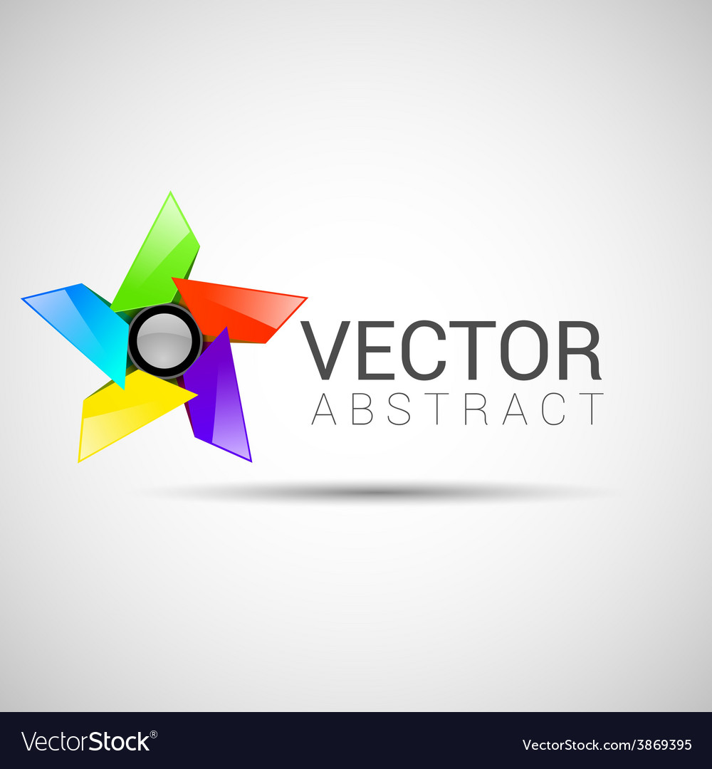 Abstract shape eps10 design color abstract vector | Price: 1 Credit (USD $1)
