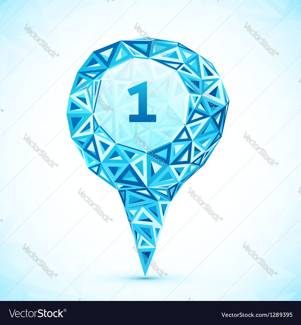 Abstract triangle blue map location pointer vector | Price: 1 Credit (USD $1)