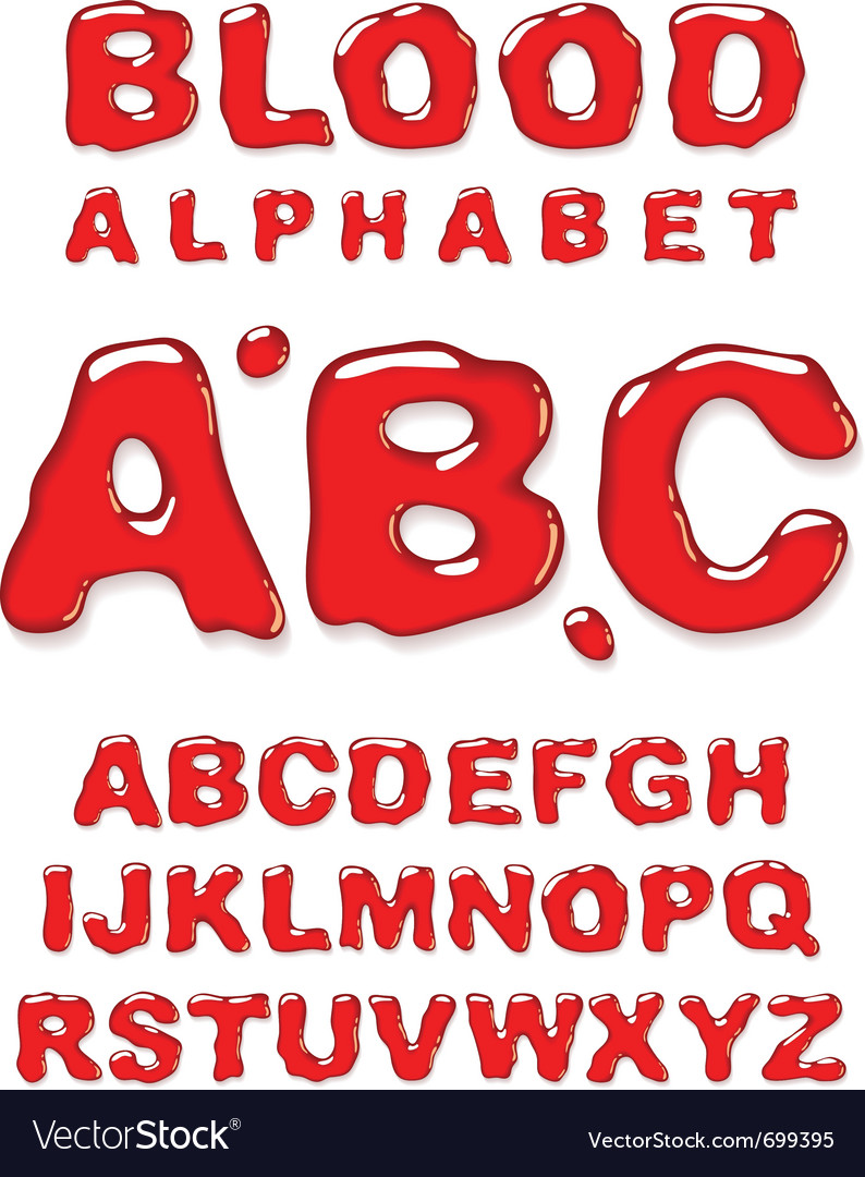 Blood alphabet letters set vector | Price: 1 Credit (USD $1)