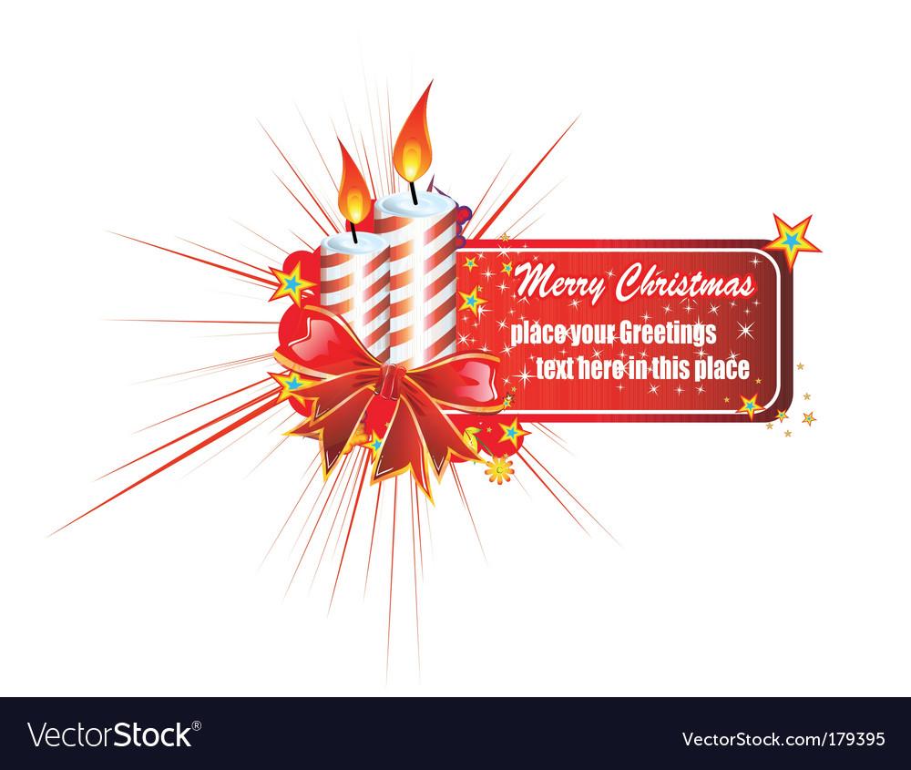 Christmas greetings card vector | Price: 3 Credit (USD $3)
