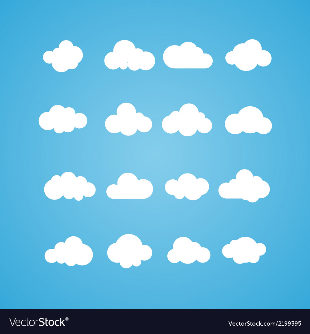 Clouds collection concept - computing web and app vector | Price: 1 Credit (USD $1)