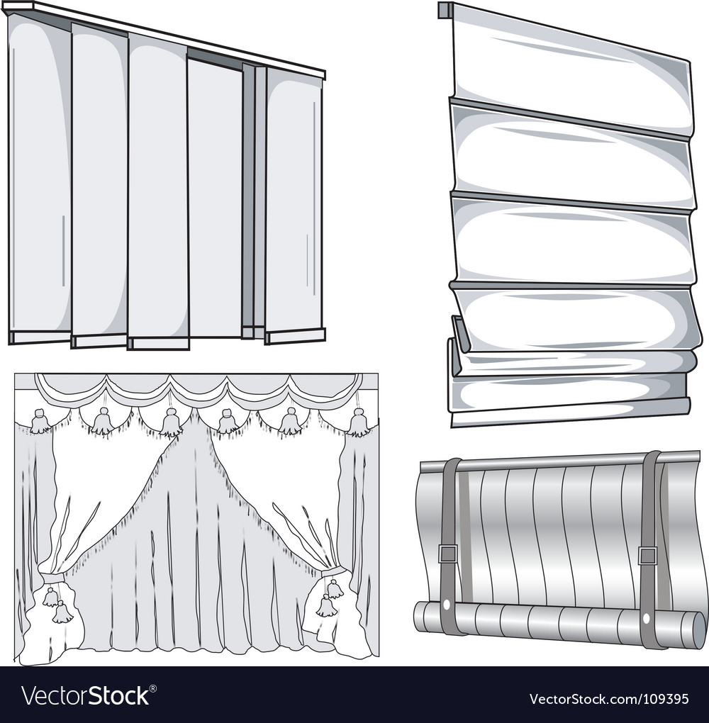 Curtains jalousie vector | Price: 1 Credit (USD $1)