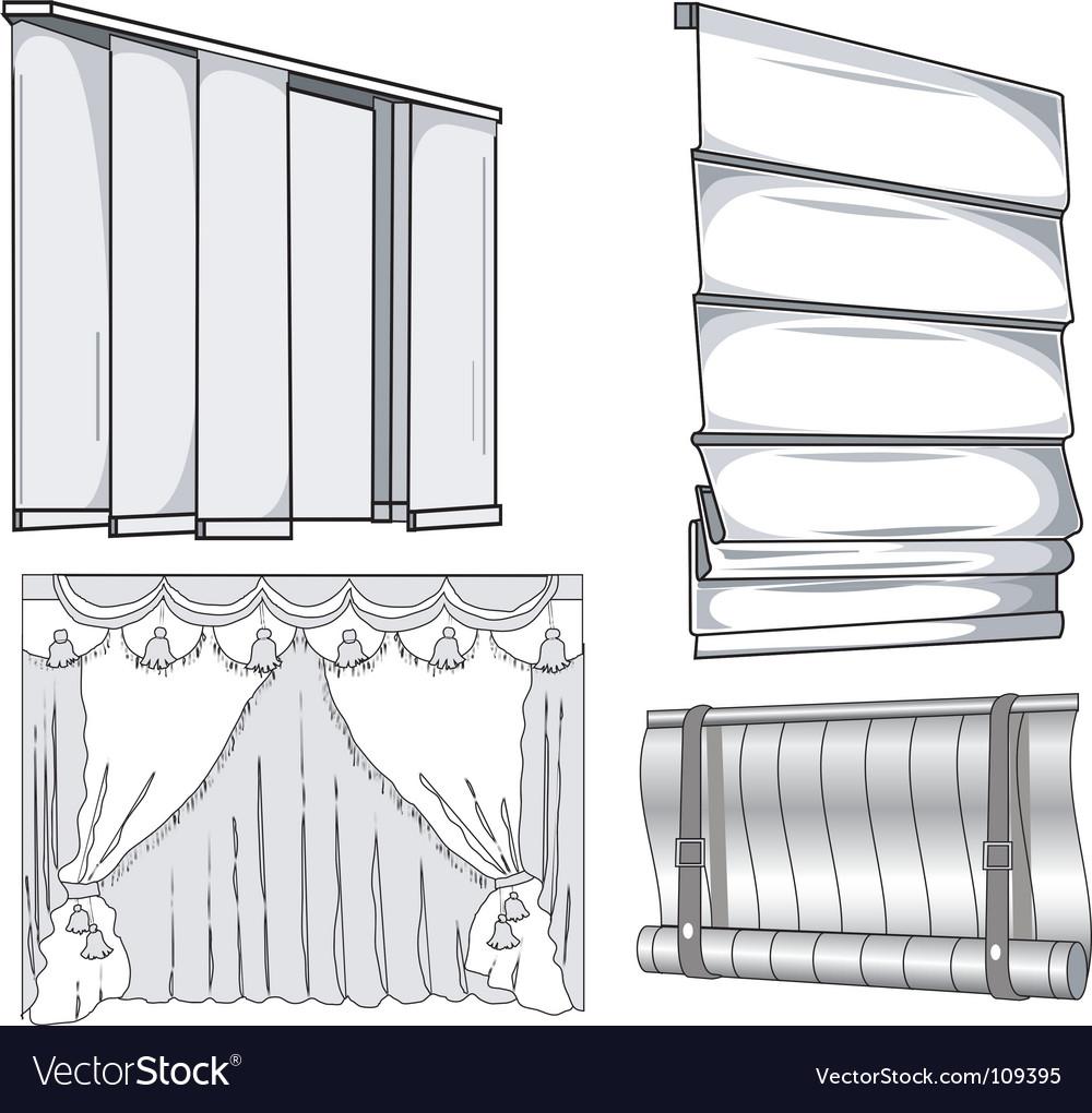Curtains jalousie vector | Price: 1 Credit (USD $1)