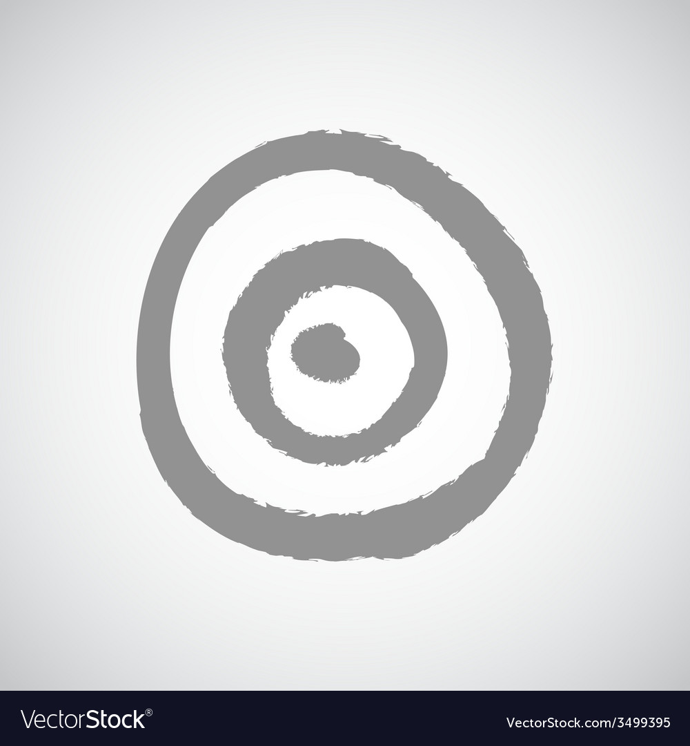 Dart game target on white background vector | Price: 1 Credit (USD $1)