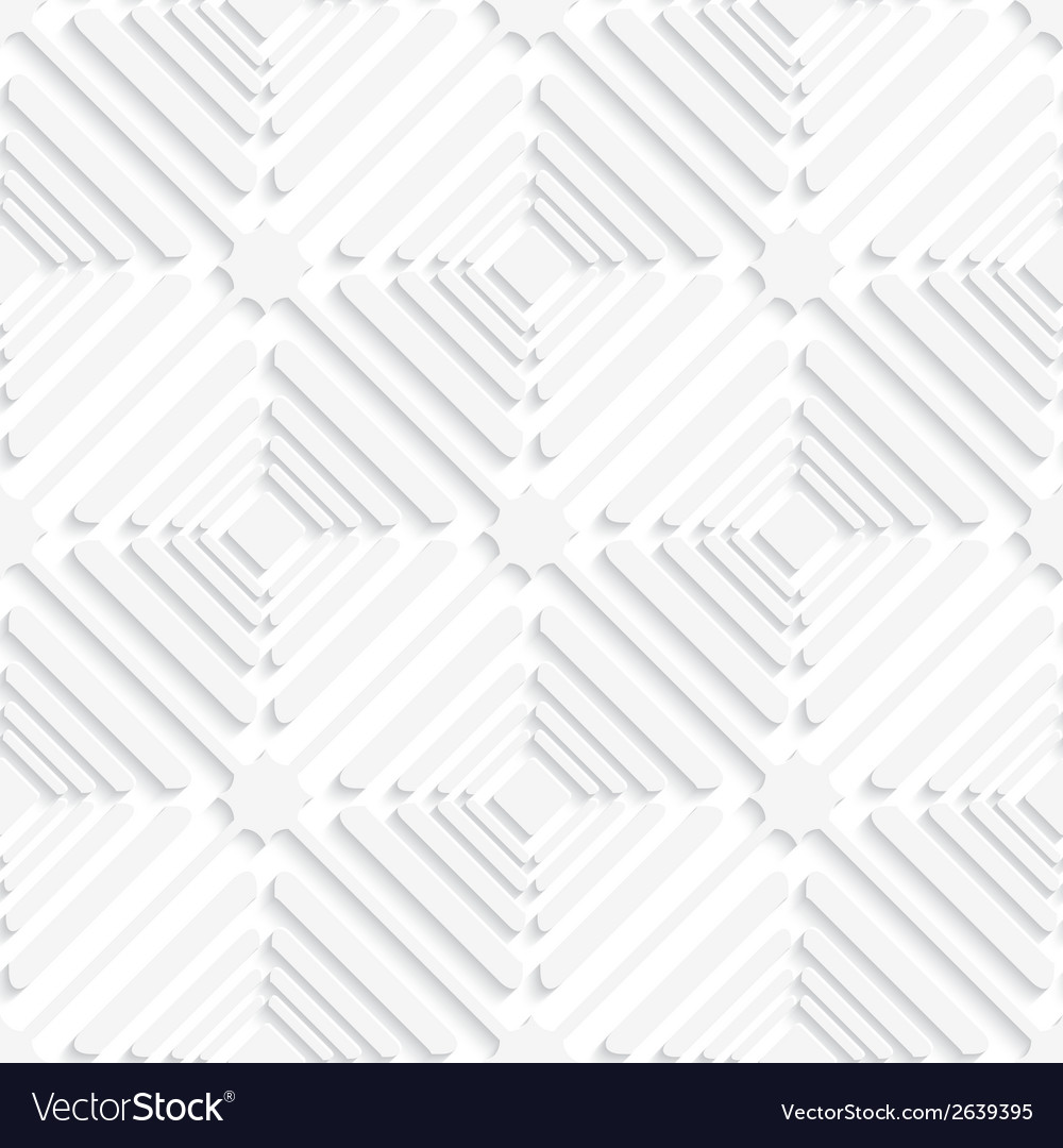 Diagonal white offset squares pattern vector | Price: 1 Credit (USD $1)