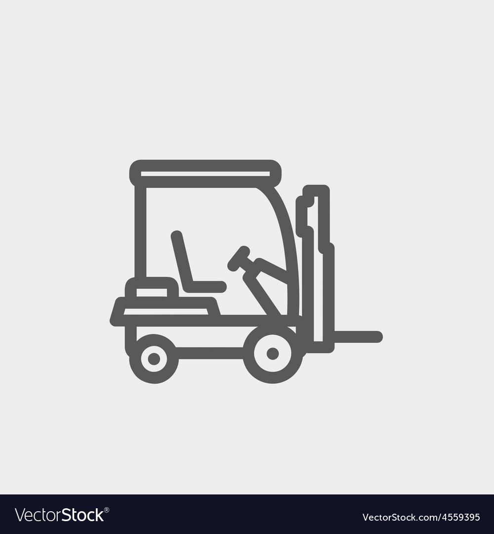 Golf cart thin line icon vector | Price: 1 Credit (USD $1)